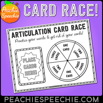 Articulation Card Race for Speech Therapy