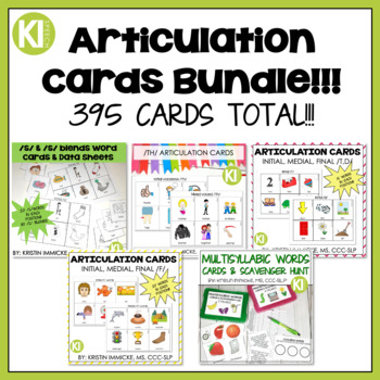 Articulation Cards & Data Collection Bundle