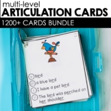 Speech Therapy Articulation Cards Bundled
