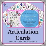Articulation Cards with Visual Cues - CV, VC, CVC, CVCV - Speech Therapy