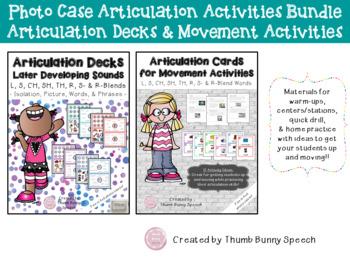 Articulation Cards/Decks Bundle - photo case activities