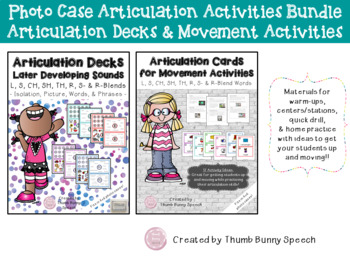 Articulation Cards/Decks Bundle - photo case activities