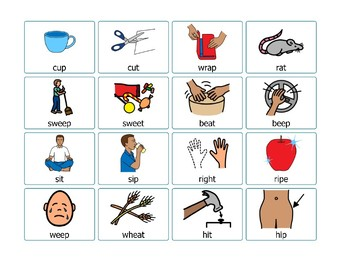 Articulation Cards Final P and T Minimal Pairs
