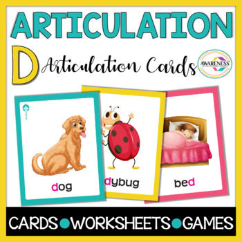 Articulation Cards: Games for Speech Therapy /d/ sound