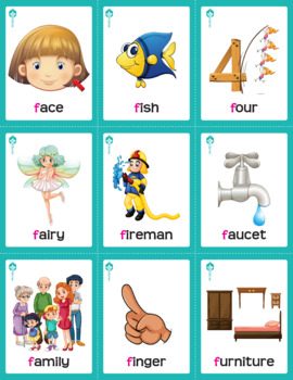 Articulation Cards Games for speech Therapy /f/ sound