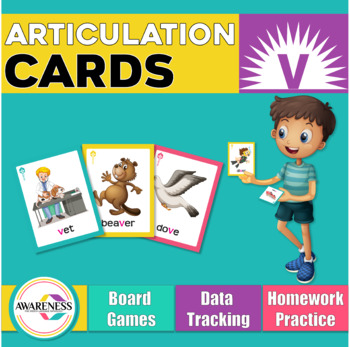 Articulation Cards Games /v/ sound