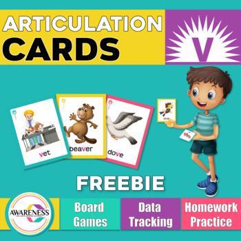 Articulation Cards Games /v/ sound  (free sample)