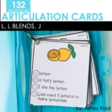Articulation Cards: L, L Blends, J sounds | Speech Therapy