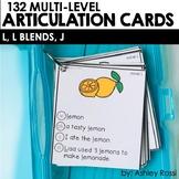 Articulation Cards: L, L Blends, J sounds   Speech Therapy