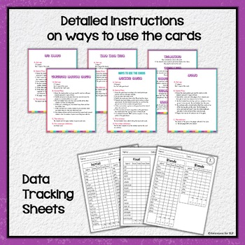 Articulation Cards Games for /l/ sound & blends