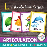 Articulation Card:Games for Speech Therapy L & L blends