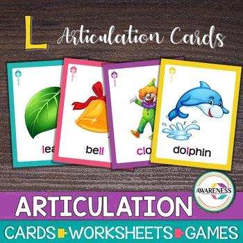 Articulation Cards Games for /l/ sound & blends