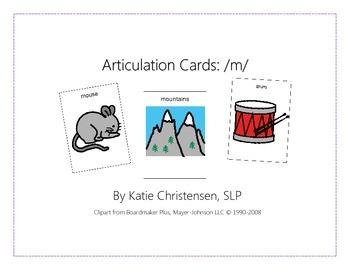 Articulation Cards - M