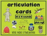 Articulation Cards:  M and N sounds (and bonus NG!)