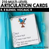 Articulation Cards: R, R Blends, Vocalic R sounds   Speech