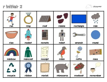 Articulation Cards:  R and L sounds