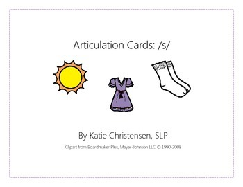 Articulation Cards - S