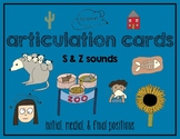 Articulation Cards:  S & Z sounds