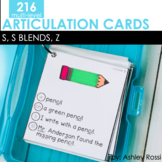 Articulation Cards: S, S Blends, and Z sounds | Speech Therapy