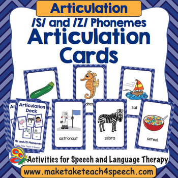 Articulation Deck - /S/ and /Z/ Phonemes