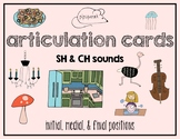 Articulation Cards:  SH & CH sounds