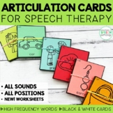 Articulation Cards & Sheets for Speech Therapy