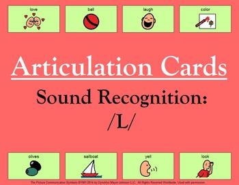 Articulation Cards Sound Recognition: L
