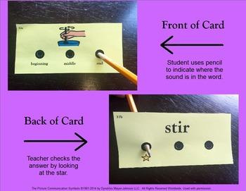 Articulation Cards Sound Recognition: R
