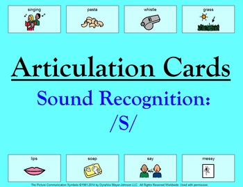 Articulation Cards Sound Recognition: S
