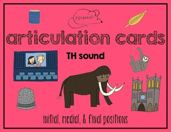 Articulation Cards:  TH sound