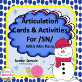 Articulation Cards and Activities for SN- with Min Pairs