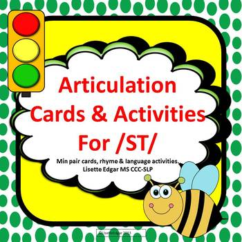 Articulation Cards and Activities for ST- with Min Pairs