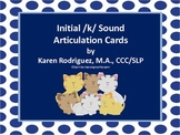 Articulation Cards for Initial /k/ Sound in Words