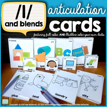 Articulation Cards for /l/ {all positions} and /l/ blends