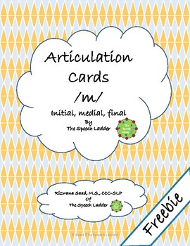 Articulation Cards /m/ (initial, medial, final)