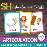 Articulation Cards: Games for Speech Therapy /sh/ sound