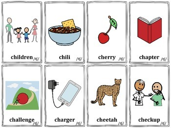 """Articulation Cards: """"sh"""" and """"ch"""""""