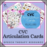 Articulation Cards with Visual Cues - 104 CVC Cards with Visual - Speech Therapy
