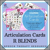 Articulation Cards with Visual Cues - R Blends - Speech Therapy