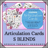 Articulation Cards with Visual Cues - S Blends - Speech Therapy