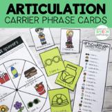 Articulation Carrier Phrase Cards #apr2019slpmusthave
