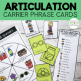 Articulation Carrier Phrase Cards