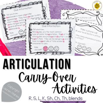 Articulation Carry-Over Activities