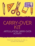 NO PREP: Articulation Carry-Over Kit for /s/, /s/ blends,