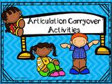 Articulation Carryover Activities!