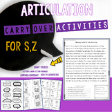 Articulation Carryover Activities For S,Z