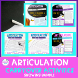 Articulation Carryover Activities BUNDLE SET-Distance Learning