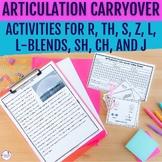 Articulation Carryover Activities BUNDLE SET-Distance Learning