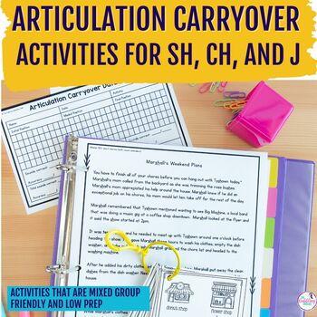 Articulation Carryover Activities SH, CH, J
