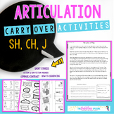 Articulation Carryover Activities SH, CH, J-Distance Learning